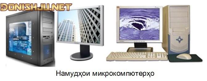 СИНФИ КОМПЮТЕРҲОИ ХУРД