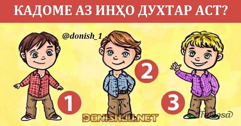 #16 Саволнома бо мукофотпулӣ – 07.03.2021 (идона)